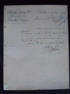 Thuillies 1898 Hardy Lebrun & Cie Fabricants De Sucre Lettre - Levensmiddelen
