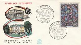JUMELAGE EUROPEEN VANVES BURGDORE 1964 YT 1419 - TDA176 - France