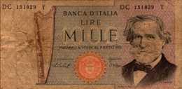 ITALIE  1000 LIRE Du 10-1-1977  Pick 101d - [ 2] 1946-… Republik