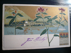 Garda Isole Lecchi Cartolina Ufficiale Impresa Navigazione Rara Usata 04.04.1899 - Italia