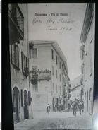 Chiavenna Venduta Via Di Mezzo Molto Rara - Usata 16.06.1914-2 Scans - Altre Città