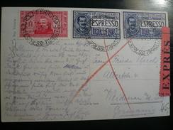 Coppia Espresso  Floreale Napoli 3.5.1932 -  2 X1,25 Lire,  Centrati  - Non Facili E Rari Su Cartolina Per L'estero - 1900-44 Vittorio Emanuele III