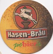 SOUS BOCK  Coaster Bi-face HASEN-BRAÜ Probier's 1997 - Beer Mats
