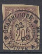 #106# COLONIES GENERALES N° 34 Oblitéré Pointe-à-Pitre (Guadeloupe) - Sage