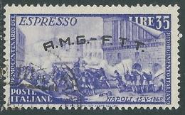 1948 TRIESTE A USATO ESPRESSO RISORGIMENTO 35 LIRE - L15 - 7. Triest