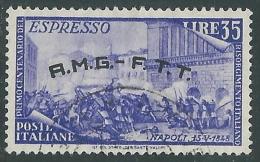 1948 TRIESTE A USATO ESPRESSO RISORGIMENTO 35 LIRE - L16 - 7. Triest