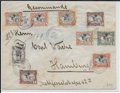 1909 - ENVELOPPE RECOMMANDEE De DJIBOUTI => ALLEMAGNE - Côte Française Des Somalis (1894-1967)