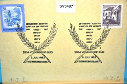 SV3487 Ö. Soldaten Schützen Frieden, ONUC, UNFICYP, 2334 Vösendorf AT 8.7.82 / 1+2 - Machine Stamps (ATM)