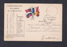 Carte Postale Franchise Militaire Guerre 14-18 Clovis Blanc Gonnet 22 22è Bataillon Chasseurs Alpins 6è Cie Vs Chaumont - Cartes De Franchise Militaire