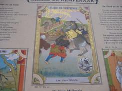 48 Inserted Litho Cards Each 12,3X8,3cm Album Japanese Theme Fables De La Fontaine PUB Neefs Jacques, Around 1900 - Autres