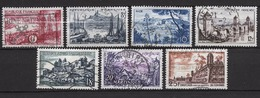 FRANCE 1955 - SERIE Y.T. N° 1036 A 1042 - 7 TP OBLITERES / FD303 - Francia