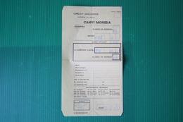 PRINCIPATO ANDORRA - RICEVUTA CAMBIO MONETA - 1971 - Fatture & Documenti Commerciali
