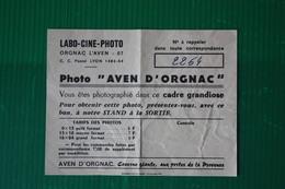 AVEN D'ORGNAC -  RICEVUTA VENDITA FOTOGRAFIE - ANNI 70 - Sports & Tourisme