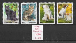 Chien & Chat - France N°3283 à 3286 1999 ** - Cani
