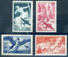 FRANCE POSTE AERIENNE 1946 PA16 à 19 NEUF** LUXE SANS CHARNIERE COTE 18E - 1927-1959 Postfris