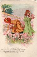 Souvenir De LA BELLE JARDINIERER - PARIS - Illustration - Fillettes Cueillant Des Fleurs De Champ-  (95756) - Advertising