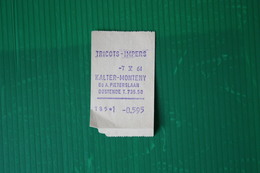 SCONTRINO ACQUISTO OSTENDA -1964 - Vestiario & Tessile