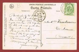 Oorderen Relais Sterstempel Als Aankomststempel 06 Juillet 1911 Op Zichtkaart - Cachets à étoiles