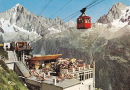 TELEPHERIQUE: CHAMONIX-MONT-BLANC: Restaurant De Planpraz La Terrasse  Et L'Aiguille Verte - Postcards