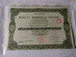 MINES ET MINERAIS DE PROVENCE (1928) - Unclassified