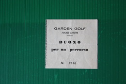 INGRESSO GOLF FINAE LIGURE  - ANNI 70 - Golf