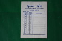 SCORE GOLF FINALE LIGURE  - ANNI 70 - Golf