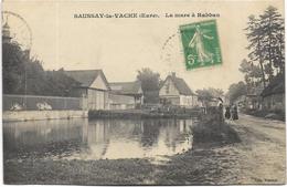 27 - SAUSSAY-la-VACHE (Eure) - La Mare à Rabban. Animée, CPA Peu Courante Ayant Circulé En 1914. BE. - Autres Communes
