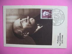 Carte-Maximum    N°820 Paul Langevin 1948 - Maximumkarten
