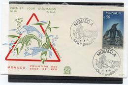 Monaco 1971 Belle Fdc Environnement Pollution Des Mers Thème Poissons Oisaux  (01004) - Pollution