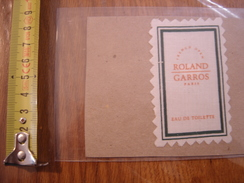 Carte Morceau De Tissu Etiquette Publicite Parfum ROLAND GARROS French Open - Perfume Cards