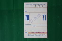 GIORNALIERO SESTRIERE   - 1971 - Sport Invernali