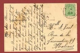 Belgique 2 Belgie 2  Op Kaart Charleroi 2 Scan - Postmark Collection