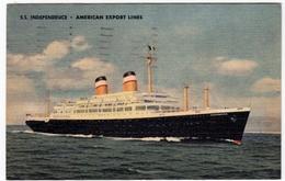 NAVI - BARCHE - S.S. INDIPENDENCE - AMERICAN EXPORT LINES - 1958 - Vedi Retro - Formato Piccolo - Barche
