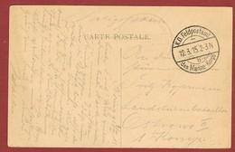 Stempel K D Feldpostamt Des Marine Korps 12/3/1915 Op Kaart - WW I