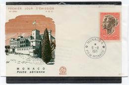 Monaco 1971 Belle Fdc Poste Aérienne 20 F Effigie Princesse Et Prince  (01012) - FDC
