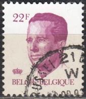 Belgique 1984 COB 2125 O Cote (2016) 1.25 Euro Roi Baudouin Cachet Rond - Oblitérés