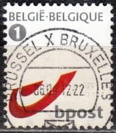 Belgique 2010 COB 4084 O Cote (2016) 1.00 Euro Logo Bpost Cachet Rond - Belgium
