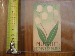 Carte Publicite Parfum Muguet LT PIVER Paris - Perfume Cards