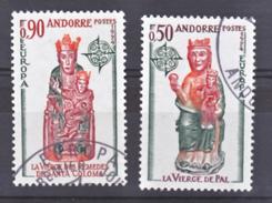 Andorre 237 238 Europa  Oblitéré Used Cote 14.5