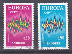 Andorre 217 218 Europa  Oblitéré Used Cote 12.25