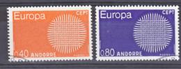 Andorre 202 203 Europa  Oblitéré Used Cote 12.25