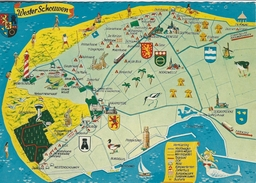 Map Of  Wester Schouwen Holland    Netherlands.  # 05699 - Maps