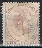 Sello 1 Pts AMADEO 1872, Reparado, Edifil Num 127 º - 1872-73 Reino: Amadeo I