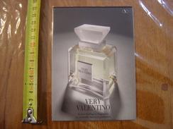 Carte Publicite Parfum Very VALENTINO - Cartes Parfumées