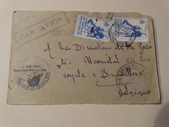 Afrique Occidentale Française,face Lettre Par Avion Vers La Belgique - Stamps