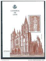 ESPAGNE ESPAÑA SPAIN 2012 M/S CATHEDRAL CATEDRAL DE LEON 2.90€ ED HB4761 YV BF219-4448 MI B231-4743  SG MS4741 - Blocs & Feuillets
