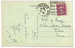 OBLITERATION DAGUIN DE QUIBERON (MORBIHAN) DU 23/7/1935 - 1921-1960: Periodo Moderno