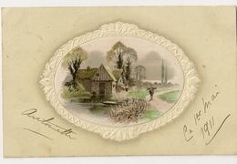 S5928 - Paysage Dans Un Médaillon - Cartes Postales