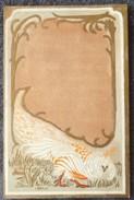 Litho CHROMO Dorure ART NOUVEAU Precurseur ILLUSTRATEUR Style KIRCHNER ?estampe Japonaise Oiseau Poule Faisane ? Paon ? - Illustrateurs & Photographes