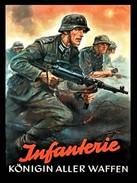 """Militaria WW2  - Photo Affiche Propagande Allemande """" Infanterie, Königin Aller Waffen"""" - 1939-45"""